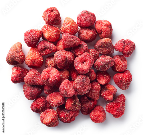 Heap of freeze dried strawberries