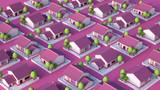 Cottage village. 3d illustration, 3d rendering.