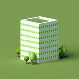High-rise residential building. 3d illustration, 3d rendering.