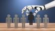 3D Illustration Roboterhand Menschen ersetzen