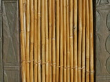 Bamboo Wall Framed by Stone Wall