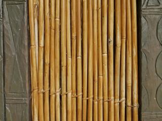 Bamboo Wall Framed by Stone Wall © Johann