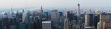 Banner of american New York cityscape with skyscrapers. Concept of blog header and website heading for USA and green card. - 220815443