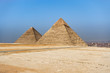 The Pyramids of Giza, the last surviving Wonders of the Ancient World, situated in Cairo, Egypt..