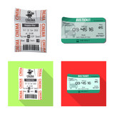 Vector design of ticket and admission logo. Set of ticket and event stock vector illustration. - 220836251