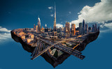 Digital photo manipulation of Dubai
