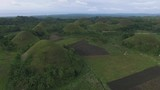 Chocolate hills at Bohol island, Philippines. Touristic spot. Typical view. - 220854629