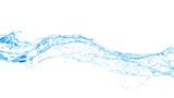 Isolated blue splash of water splashing on a white background. 3d illustration, 3d rendering. - 220861046