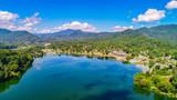 Lake Junaluska Drone Aerial - 220868226