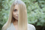 Beauty blonde woman have nice hair