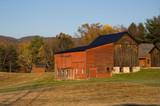 Autumn Barn at Sunrise - 220874401