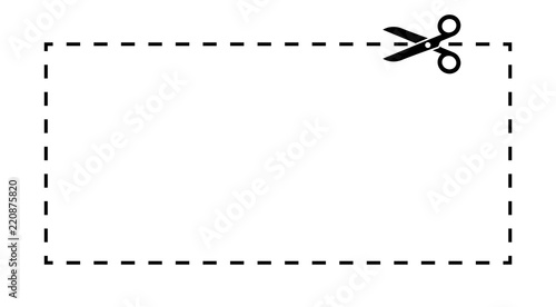 Coupon Template Dashed Line With Scissors Black Vector Label Buy