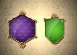 Blank Decorative Shield Crests - 220879653