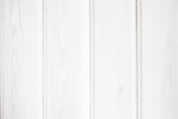 Wooden wall made of planks painted in white, texture - 220883064