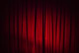 Dark red vintage velvet curtain, background texture - 220883077