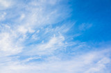 Cloudy sky background photo, cirrus clouds - 220884004