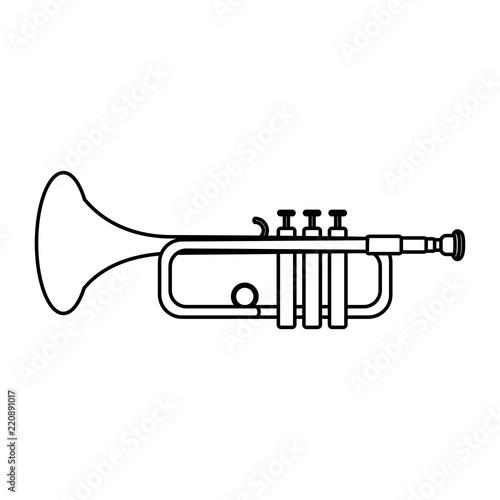 Fototapeta line music trumpet instrument artistic melody