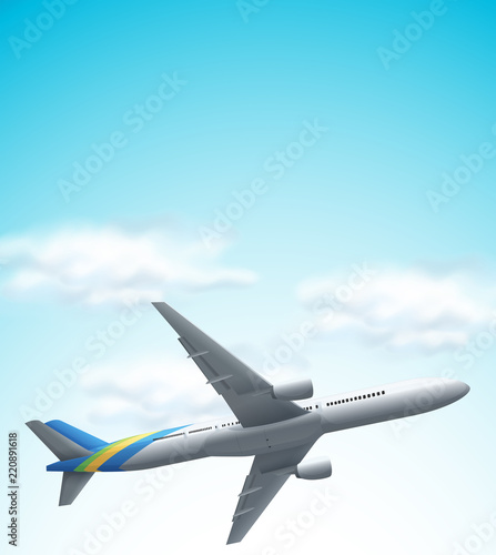 Tapeta Commerical airplane flying above