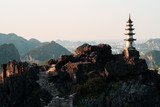 Sunsets and pagodas in the mountains