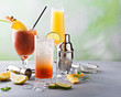 Leinwanddruck Bild - Breakfast or brunch cocktails