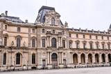 Exterior of louvre museum. Photo image a Beautiful panoramic view of Paris Metropolitan City - 220894244