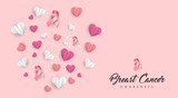 Breast Cancer Care paper cut heart card for love - 220896218