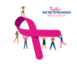 Breast Cancer Care concept for social charity help - 220896238