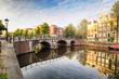 Leinwanddruck Bild - Netherlands, Amsterdam at day