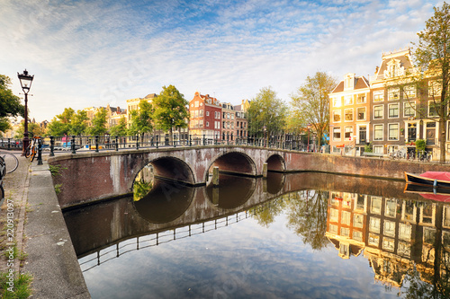 Leinwanddruck Bild Netherlands, Amsterdam at day