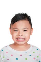 Asian boy smiling
