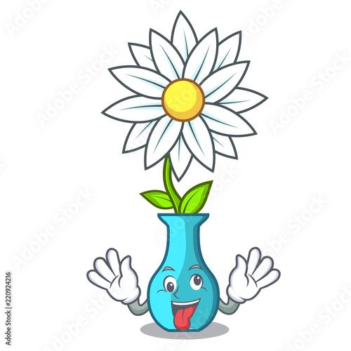 Crazy Mascot Beautiful Flower In Vase Cartoon Buy Photos Ap