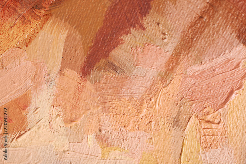 Artysta olej maluje stubarwnego zbliżenie abstrakta tło