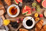 healthy breakfast with fruit