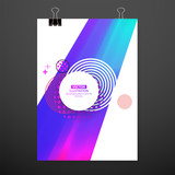 Modern abstract cover. Cool gradient waves composition. Eps10 vector. - 220947847