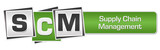 SCM - Supply Chain Management Green Grey Squares Bar  - 220948095
