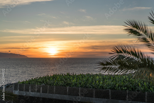 Sunset over the Atlantic ocean, Spain, Tenerife, an image taken during a vacation