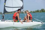 sailing on the lake - 220955846