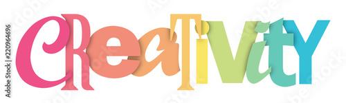 Fototapeta CREATIVITY letters banner