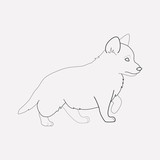 Puppy icon line element. Vector illustration of puppy icon line isolated on clean background for your web mobile app logo design.