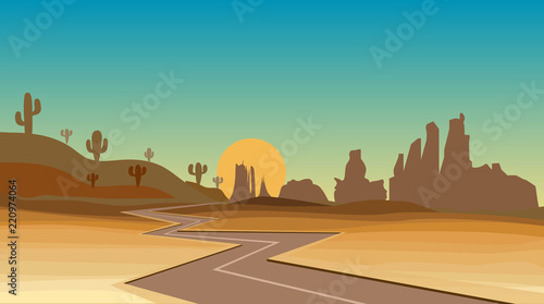 road in the western desert - 220974064