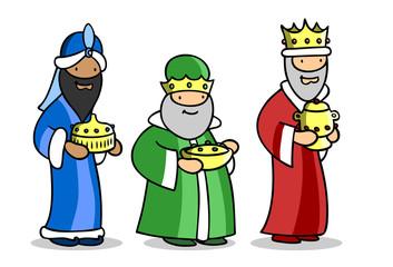 Die heiligen drei Könige zu Weihnachten