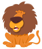 funny lion cartoon animal character