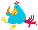 funny colorful bird cartoon animal character