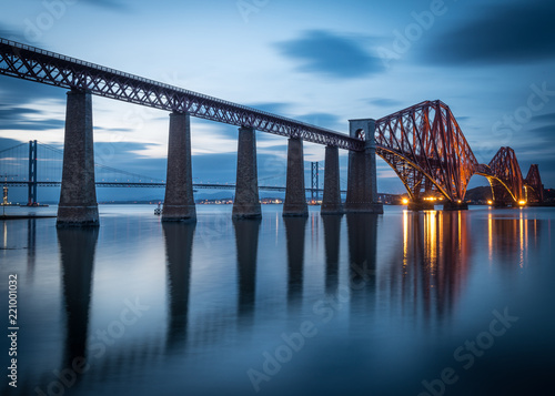 Fridge magnet Forth Bridge Blues