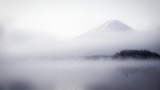 Mist covered Mt. Fuji in the morning. - 221012211
