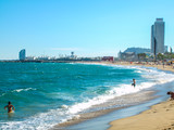 View on the beach of Barcelona, Catalonia - Spain