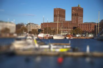 Oslo City Hall is the capital of Norway © Aliaksei