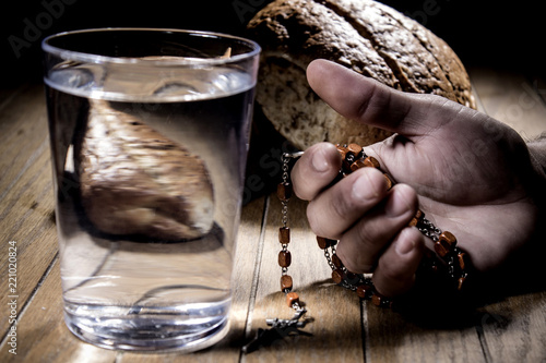 Fototapeta Fasting for bread and water