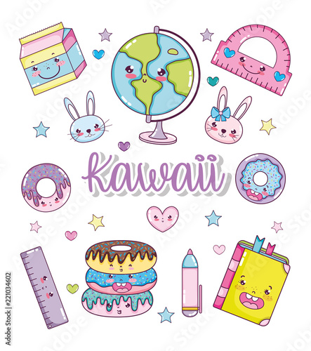 Set of kawaii cartoons - 221034602