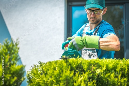 Sticker Gardener Trimming Shrub